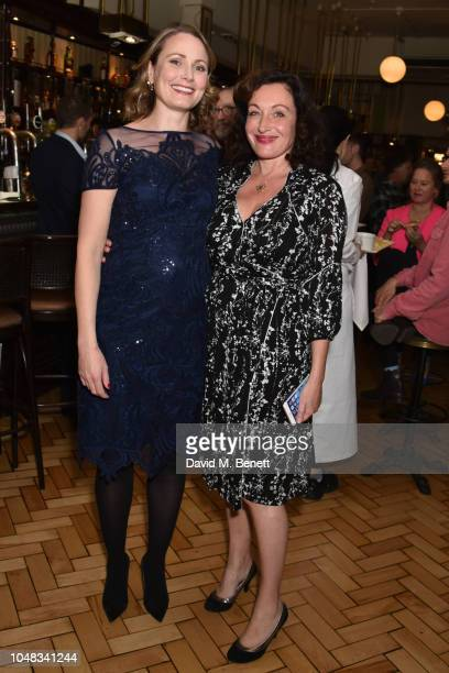 Anna Madeley and Lucy Cohu attend the press night after party for 'The Height Of The Storm' at Browns on October 9 2018 in London England