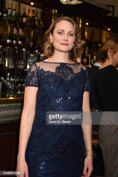 Anna Madeley attends the press night after party for 'The Height Of The Storm' at Browns on October 9 2018 in London England