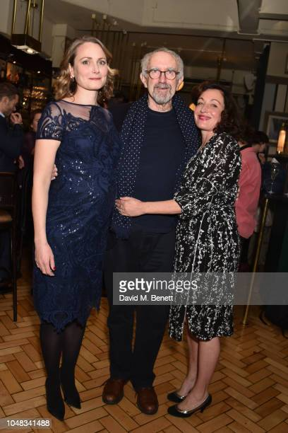 Anna Madeley Jonathan Pryce and Lucy Cohu attend the press night after party for 'The Height Of The Storm' at Browns on October 9 2018 in London...