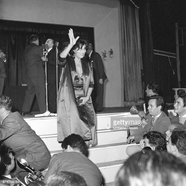Anna Magnani at the 'Casina delle Rose' for the Italian film award Nastri D'Argento Rome 1953