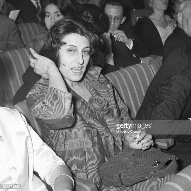 Anna Magnani at the Italian film award Nastro d'Argento 1959