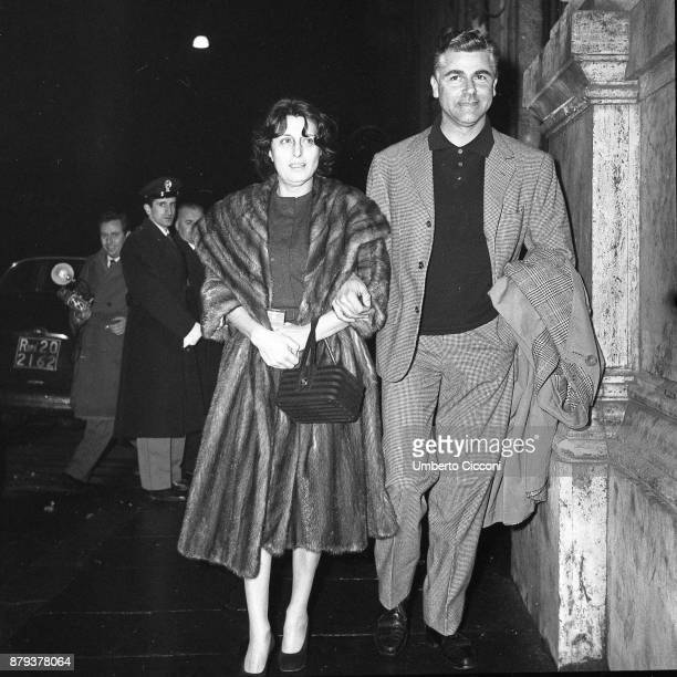 Anna Magnani with Cesare Pavani Rome 1959