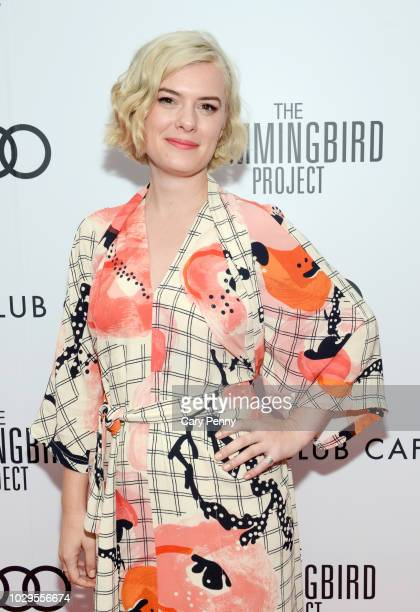 Anna Maguire attends the Cactus Club Cafe and Audi Celebrate The Hummingbird Project Starring Salma Hayek Jesse Eisenberg and Alexander Skarsgard at...