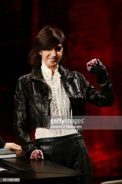Anna Marchesini attends 'Che Tempo Che Fa' TV Show on November 23, 2013 in Milan, Italy.