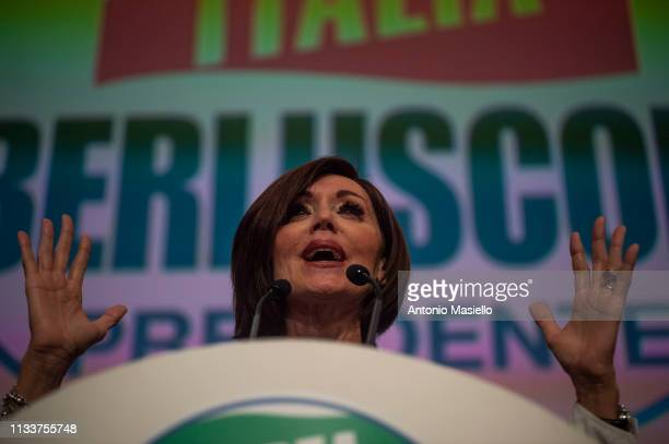 Anna Maria Bernini delivers his speech during a meeting of centreright political party Forza Italia on March 30 2019 in Rome Italy The meeting was...