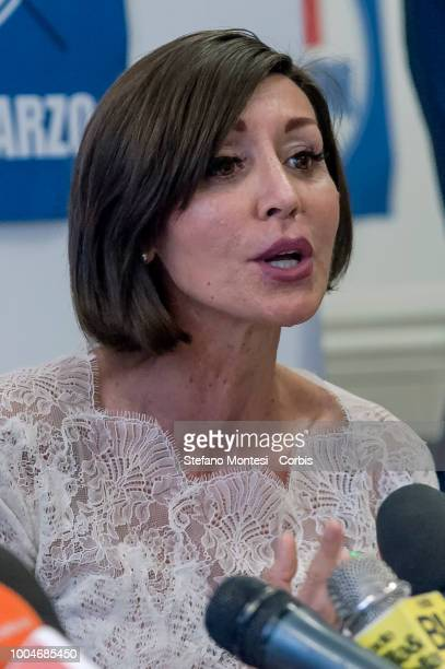 Anna Maria Bernini group leader of Forza Italia at the Senate during the press conference of Forza Italia to illustrate its proposals for profoundly...