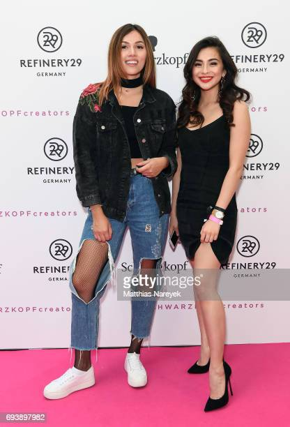 Anna Maria Damm and Diana Korkunova attend the Schwarzkopf x Refinery29 event at Bar Babette on June 8 2017 in Berlin Germany