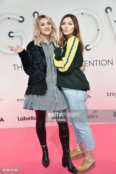 Anna Maria Damm and her sister Katharina Damm attend the GLOW The Beauty Convention at Station on November 5 2017 in Berlin Germany