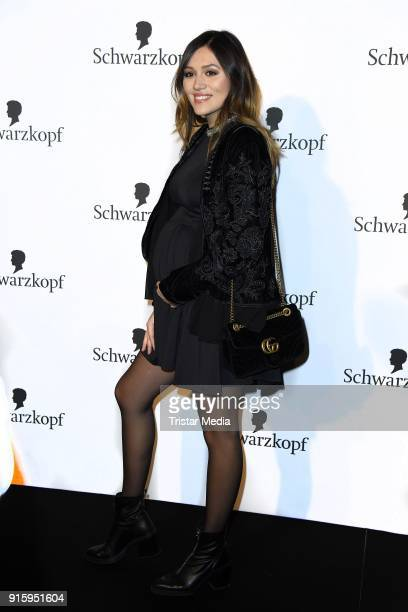 Anna Maria Damm attends the 120th anniversary celebration of Schwarzkopf at U3 subway tunnel Potsdamer Platz on February 8 2018 in Berlin Germany
