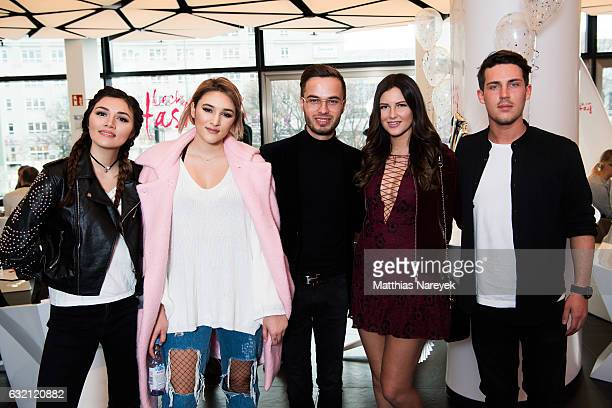 Anna Maria Damm Katharina Damm Henri Reichert de Heer Maren Merkel and Tobias Wolf attends the 'LECK MICH AM HASHTAG' brunch during MercedesBenz...