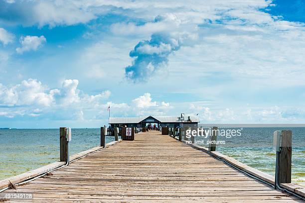 anna maria island city pier - anna maria island stock pictures, royalty-free photos & images