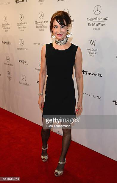 Anna Maria Kaufmann attends the Glaw show during the MercedesBenz Fashion Week Spring/Summer 2015 at Erika Hess Eisstadion on July 9 2014 in Berlin...