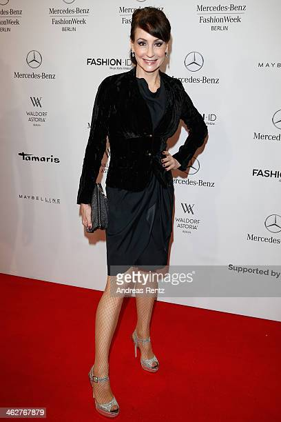 Anna Maria Kaufmann attends the Minx by Eva Lutz show during MercedesBenz Fashion Week Autumn/Winter 2014/15 at Brandenburg Gate on January 15 2014...