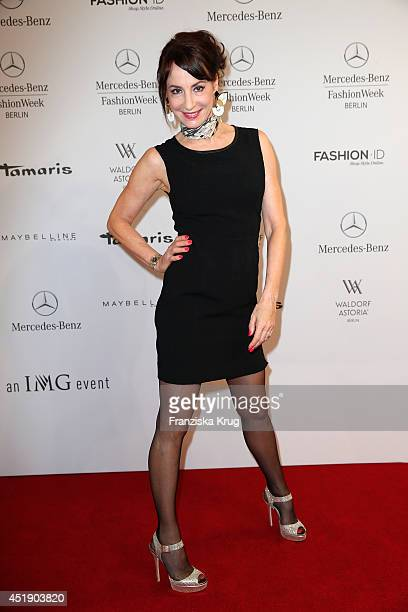 Anna Maria Kaufmann attends the Minx by Eva Lutz show during the MercedesBenz Fashion Week Spring/Summer 2015 at Erika Hess Eisstadion on July 9 2014...