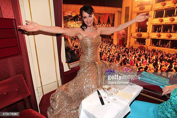 Anna Maria Kaufmann attends the traditional Vienna Opera Ball at Vienna State Opera on February 27 2014 in Vienna Austria