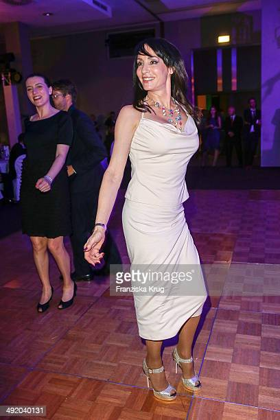 Anna Maria Kaufmann dances at the 'Camp David Eagles Hauptstadt Golf Cup' Gala at Van der Valk Hotel Berlin Brandenburg on May 18 2014 in Berlin...