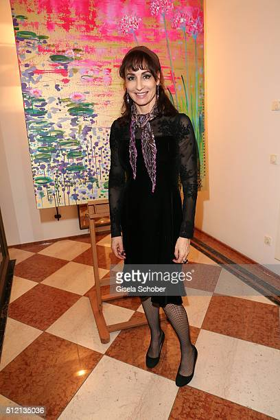 Anna Maria Kaufmann during the Mauro Bergonzoli 'Jakob in Venedig' exhibition opening at Fuerst Fugger Privatbank on February 24 2016 in Augsburg...