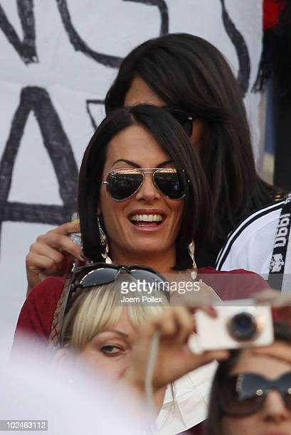 Anna Maria Lagerblom girlfriend of Mesut Oezil attends the 2010 FIFA World Cup South Africa Round of Sixteen match between Germany and England at...