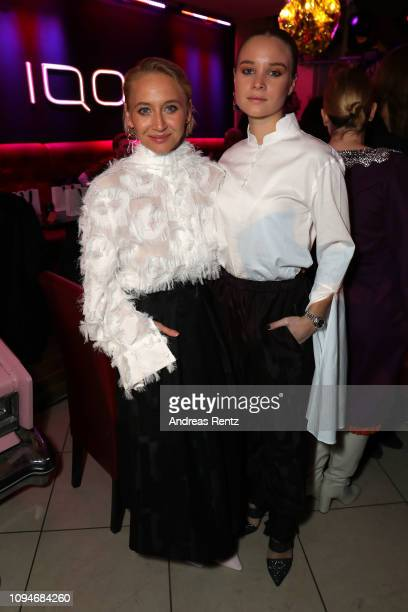 Anna Maria Mühe and Sonja Gerhardt the William Fan Defile during 'Der Berliner Salon' Autumn/Winter 2019 at Knutschfleck on January 15 2019 in Berlin...
