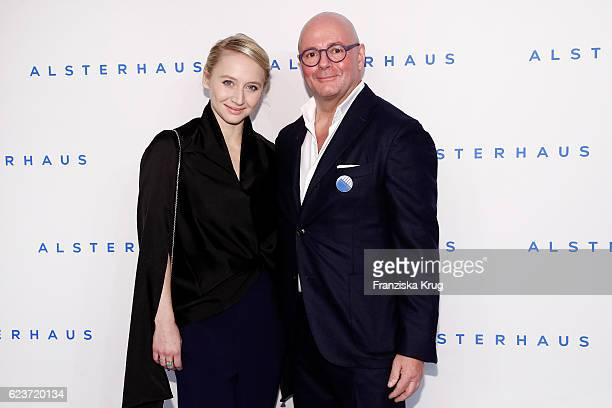 Anna Maria Muehe and Andre Maeder attend the new Luxury Hall Opening of the Alsterhaus on November 16 2016 in Hamburg Germany