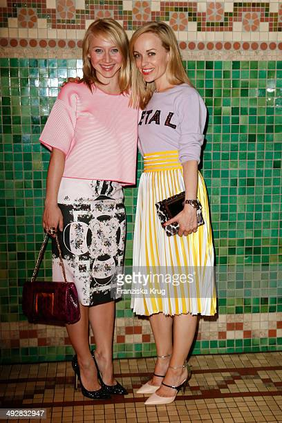 Anna Maria Muehe and Friederike Kempter attend the Jimmy Choo mytheresacom Dinner In Berlin on May 21 2014 in Berlin Germany
