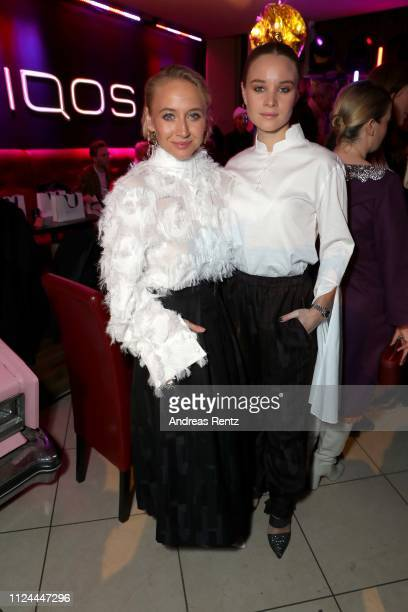 Anna Maria Muehe and Sonja Gerhardt attend the William Fan Defile during 'Der Berliner Salon' Autumn/Winter 2019 at Knutschfleck on January 15 2019...
