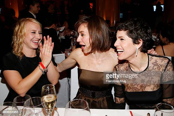 Anna Maria Muehe Christiane Paul and Jasmin Gerat attend the German Film Ball 2014 on January 18 2014 in Munich Germany