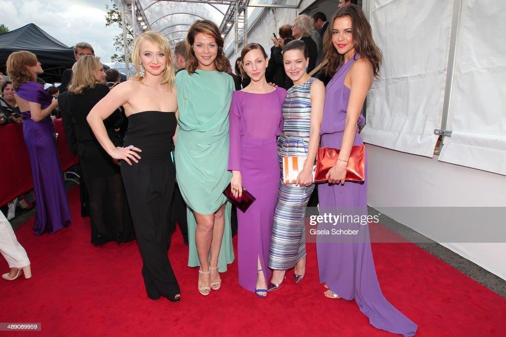 Anna Maria Muehe, Jessica Schwarz ,Katharina Schuettler and Hannah Herzsprung, Susan Hoecke attend the Lola - German Film Award 2014 at Tempodrom on May 9, 2014 in Berlin, Germany.