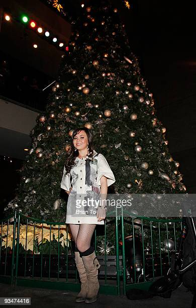 Anna Maria Perez de Tagle attends the 'Holiday Of Hope' TreeLighting Celebration And Benefit at Hollywood Highland Courtyard on November 28 2009 in...