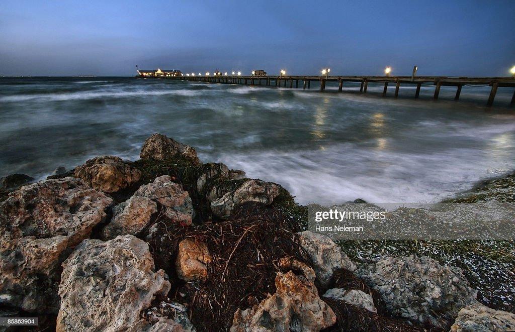 Anna Maria pier on Anna Maria Island on the Gulf. : Stock-Foto