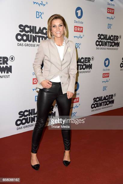 Anna Maria Zimmermann during the show 'Schlagercountdown Das grosse Premierenfest' at EWE Arena on March 25 2017 in Oldenburg Germany