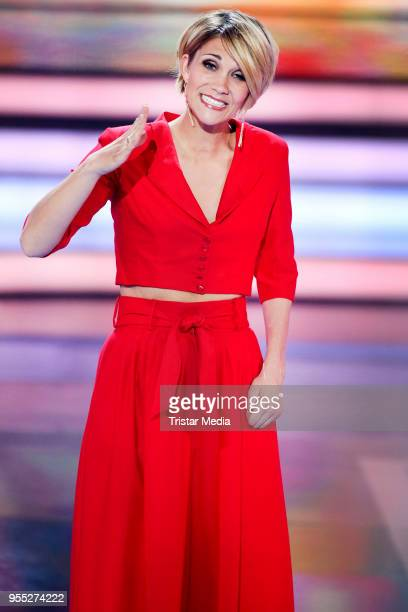 Anna Maria Zimmermann during the tv show 'Willkommen bei Carmen Nebel' at SachsenArena on May 5 2018 in Riesa Germany