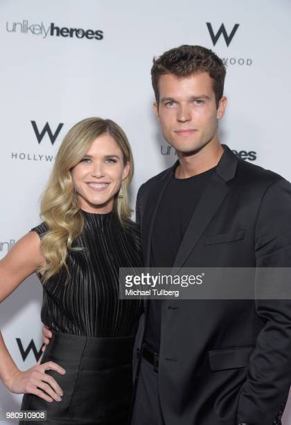 Anna Marie Dobbins and Jacob Fowler attend Nights Of Freedom LA hosted by Unlikely Heroes at W Hollywood on June 21 2018 in Hollywood California