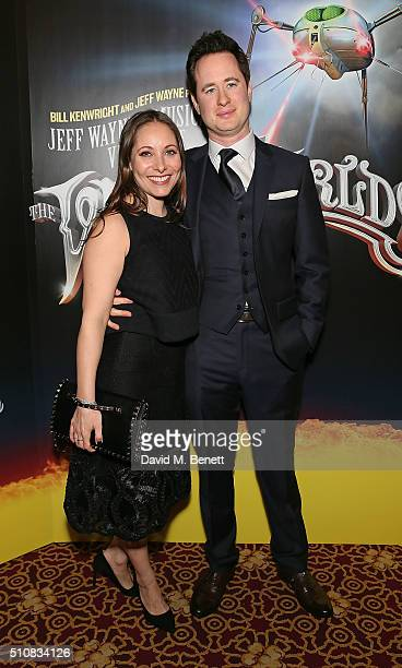 Anna Marie Wayne and Damien Collier attend the Gala Performance of 'The War Of The Worlds' at The Dominion Theatre on February 17 2016 in London...
