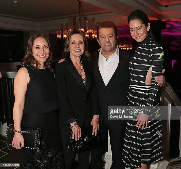 Anna Marie Wayne Geraldine Wayne Jeff Wayne and Jemma Wayne attend the gala performance after party for 'The War Of The Worlds' at The Rosewood Hotel...