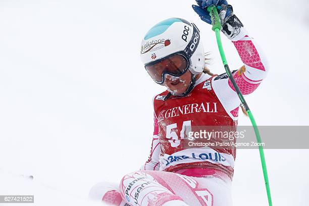 Anna Marno of USA competes during the Audi FIS Alpine Ski World Cup Women's Downhill on December 3 2016 in Lake Louise Canada