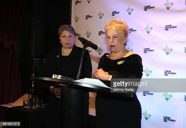 Anna Martin and Phyllis Bergman attend the 2014 Diamond Empowerment Fund GOOD Awards at 230 Fifth Avenue on January 9 2014 in New York City