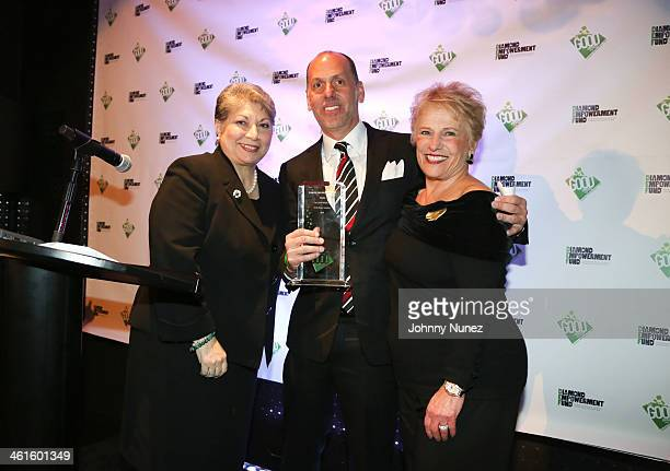 Anna Martin Peter Engel and Phyllis Bergman attend the 2014 Diamond Empowerment Fund GOOD Awards at 230 Fifth Avenue on January 9 2014 in New York...