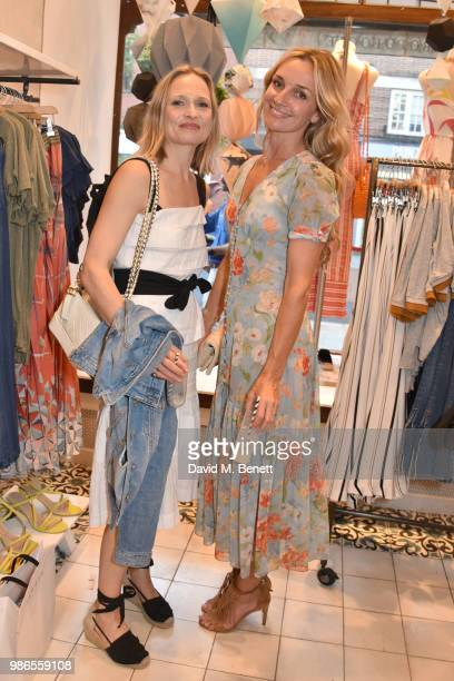 Anna Mason and Jemma Powell attend a private view of 'Moments' by artist Jemma Powell hosted by Anthropologie King's Road on June 28 2018 in London...
