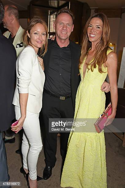 Anna Matthews guest and Heather Kerzner attend the Quercus Foundation PreWimbledon Cocktails with Ana Ivanovic in the Ten Room at Hotel Cafe Royal on...