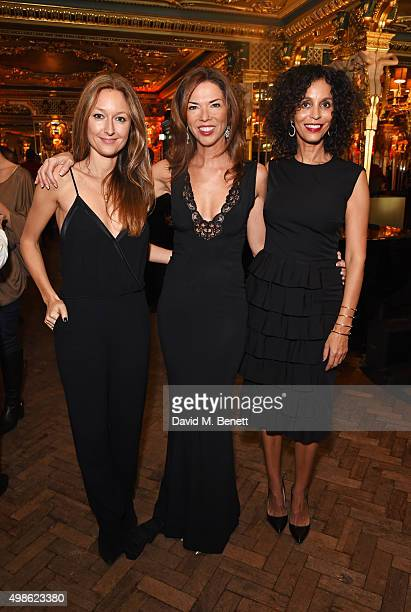 Anna Matthews Heather Kerzner and Jeanette Calliva attend the Royal Marines Boxing Bout at Cafe Royal in celebration of their 150th Anniversary on...