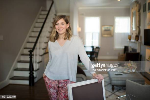 Anna Matthews poses with the living room in the background She and her husband Brian Matthews own a 1904 townhouse on Capitol Hill in Washington DC...