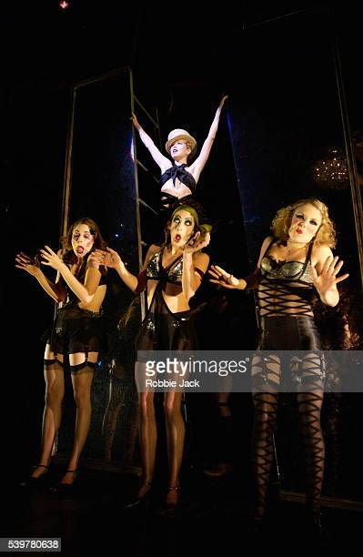 Anna Maxwell Martin and artists of the Company in the production Cabaret at the Lyric Theatre London