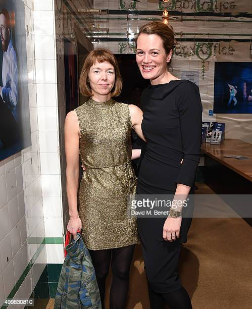 Anna Maxwell Martin and Carrie Cracknell attend the press night performance of 'Macbeth' at The Young Vic on December 3 2015 in London England