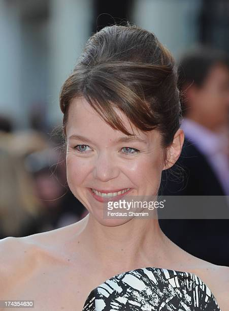 Anna Maxwell Martin attends the London Premiere of 'Alan Partidge Alpha Papa' at Vue Leicester Square on July 24 2013 in London England