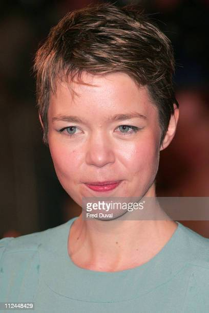 Anna Maxwell Martin during 'Becoming Jane' London Premiere Arrivals at Odeon West End in London Great Britain