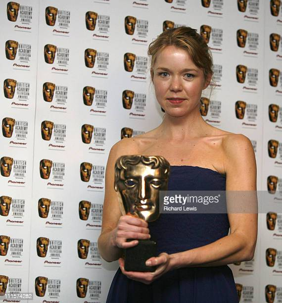 Anna Maxwell Martin winner of best actress during The 2006 British Academy Television Awards Press Room at Grosvenor House in London Great Britain