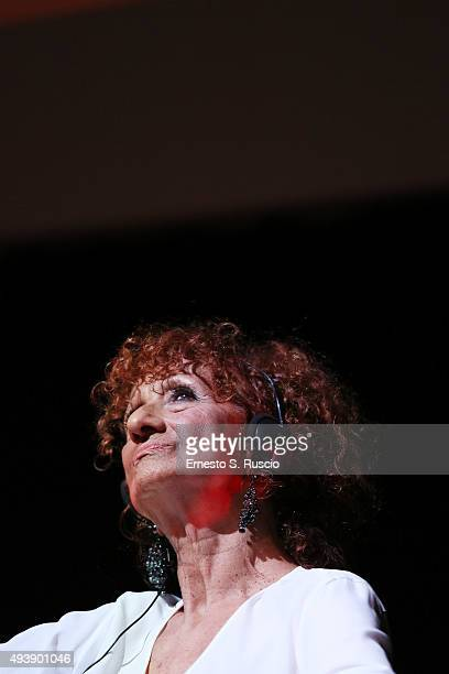 Anna Mazzamauro attends a press conference for 'Fantozzi' during the 10th Rome Film Fest on October 23 2015 in Rome Italy