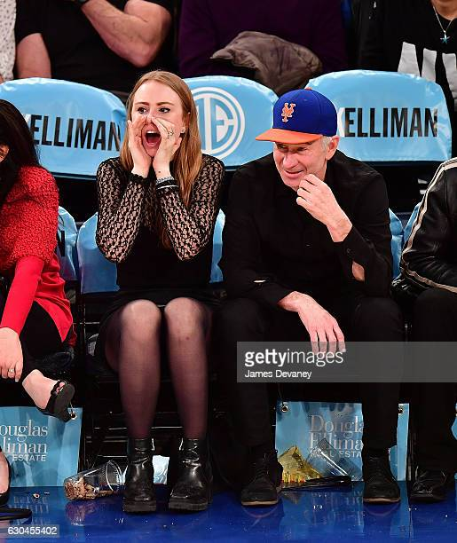 Anna McEnroe and John McEnroe attend Orlando Magic Vs New York Knicks game at Madison Square Garden on December 22 2016 in New York City