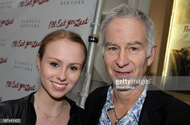 Anna McEnroe and John McEnroe attend the I'll Eat You Last A Chat With Sue Mengers Broadway opening night at The Booth Theater on April 24 2013 in...